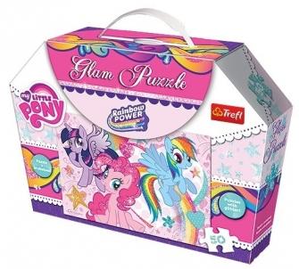 Dėlionė Trefl 14804 Glam Puzzle My Little Pony 50 det. 14804 Dėlionės vaikams