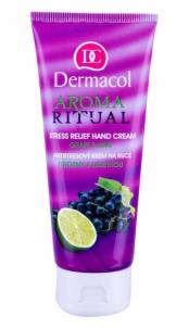 Dermacol Aroma Ritual Hand Cream Grape&Lime Cosmetic 100ml Rankų priežiūros priemonės