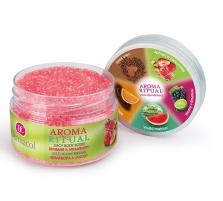 Kūno pylingas Dermacol Aroma Ritual Juicy Body Scrub Rhubarb&Strawberry Cosmetic 200g Kūno šveitikliai