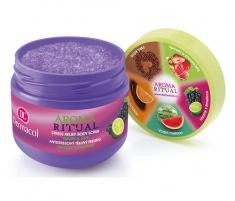 Dermacol Aroma Ritual Stress Relief Body Scrub Grape&Lime Cosmetic 300g Kūno šveitikliai