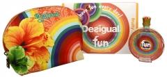 Desigual Fun - EDT 100 ml + kosmetinė (Rinkinys) Kvepalų ir kosmetikos rinkiniai