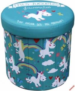 Dėžė žaislams - pufas Horse Žaislų dėžės