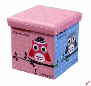 Dėžė žaislams - pufas Moly Owl Žaislų dėžės