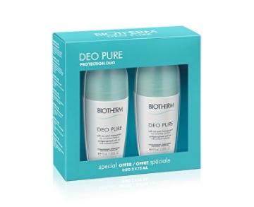 Dezodorantas Biotherm Gift Set Deo Pure (Antiperspirant Roll-On With Mineral Complex) 2 x 75 ml Dezodorantai/ antiperspirantai