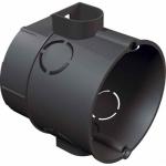Dėžutė į tinką, d60mm, sujungiama, pagilinta, su varžteliais, (MDP-60PG), Pak Plast PKL/gl/wkr Sadales kārbas