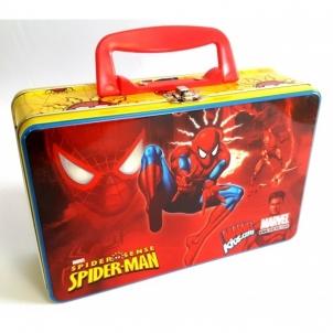 Dėžutė met. su rankenėle 21*13.5*7cm SPIDERMAN Indiešu bērniem