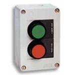 Dėžutė start-stop, 2 grybo tipo mygtukai, JBB2F100, ETI 04770367 Mygtukai