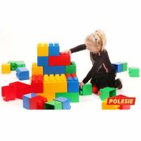 Didelės konstruktoriaus kaladėlės XXL 24 vnt su jungtimis | Wader Kaladėlės ir statybos žaislai