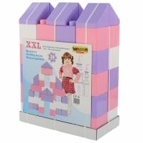 Didelės konstruktoriaus kaladėlės XXL 36 vnt | pastelinių spalvų | Wader Kaladėlės ir statybos žaislai
