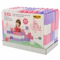 Didelės konstruktoriaus kaladėlės XXL 45 vnt | pastelinių spalvų | Wader Kaladėlės ir statybos žaislai
