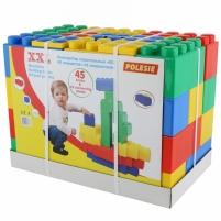 Didelės konstruktoriaus kaladėlės XXL 45 vnt su jungtimis | Wader Linings and construction toys