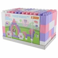 Didelės konstruktoriaus kaladėlės XXL 72 vnt | pastelinių spalvų | Wader Kaladėlės ir statybos žaislai