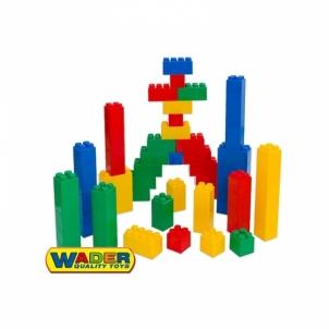 Didelės konstruktoriaus kaladėlės XXL 72 vnt su jungtimis   Wader Uzlikas un būvniecības rotaļlietas
