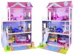 Didelis medinis lėlių namas Rotaļlietas meitenēm