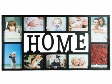 Didelis nuotraukų rėmelis Home (Juodas) Prekės namų interjerui