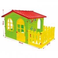Didelis žaidimų namelis su tvorele | Mochtoys 10498 Playgrounds