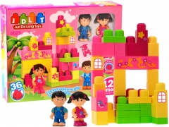 Didelių kaladėlių rinkinys Uzlikas un būvniecības rotaļlietas