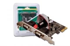 DIGITUS Plokštė  PCI Express, 2xserial (COM)