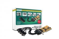 Digitus Plokštė 32-Bit, PCI, 4xserial (COM)