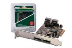 DIGITUS Plokštė PCI-E prie eSATA II / SATA II 4-port Adapters and hubs