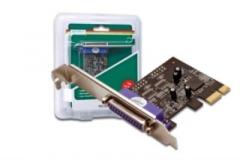 DIGITUS Plokštė PCI Express, 1x parallel DSUB 25F