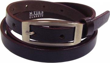 Diržas N.Ties Ladies brown leather belt OKD15004 Diržai
