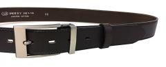 Diržas Penny Belts Men´s Leather Social Belt 35-020-19-40 Dark Brown Drošības jostas