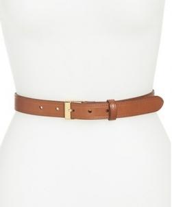 Diržas Ralph Lauren Ladies leather belt Vachetta Leather Belt Brown Diržai