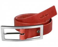 Diržas Wildskin Red leather belt 9001