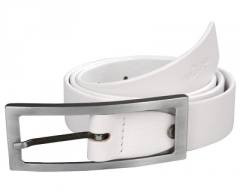 Diržas Wildskin White leather belt 9001