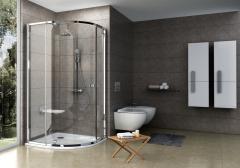 Pusapvalė dušo kabina Ravak Pivot PSKK3-90, blizgi+stiklas Transparent Dušo kabinos
