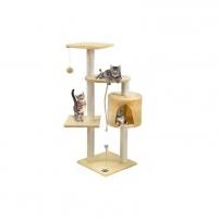 Draskyklė katėms, 110 cm, kreminė - Vangaloo Игрушки для кошек