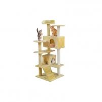 Draskyklė katėms, 120 cm, kreminė - Vangaloo Игрушки для кошек