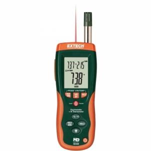 Drėgmės matuoklis Extech HD500 Psychrometer with InfraRed Thermometer Drėgmės matuokliai