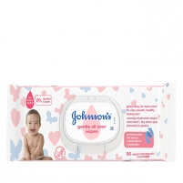 Drėgnos servetėlės JOHNSON`S Baby (Gentle All Over Wipes) 56 pcs Kūdikių higienos prekės, sauskelnės