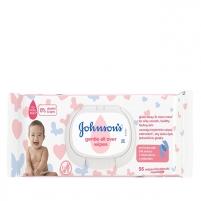Drėgnos servetėlės JOHNSON`S Baby (Gentle All Over Wipes) 56 pcs