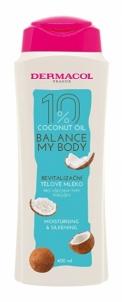 Drėkinamasis ir atgaivinantis kūno pienelis Dermacol Coconut Oil 400 ml