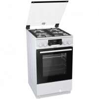 Dujinė viryklė Gorenje Cooker K5351WF Hob type Gas, Oven type Electric, White, Width 50 cm, Electronic ignition, Grilling, LED, 70 L, Depth 60 cm Viryklės