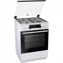 Dujinė viryklė Gorenje Cooker K634WH Hob type Gas, Oven type Electric, White, Width 60 cm, Electronic ignition, Grilling, LED, 65 L, Depth 60 cm Viryklės