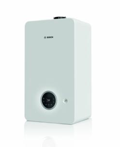 Dujinis kondensacinis katilas Bosch Condens, GC 2300iW, 24P, vandens ruošimas atskirame šildytuve, baltas Gāzes kondensācijas katli