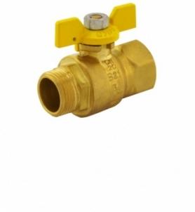Dujinis ventilius trumpa rankena 20 v/i CH Rutuliniai ventiliai dujoms
