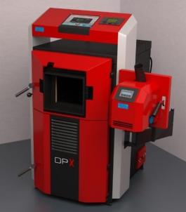 Dujų generacijos kombinuotas katilas ATTACK 25 DPX PROFI COMBI pellet, su elektroniniu valdymu Granulu katli