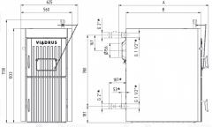 Dujų generacinis katilas Viadrus Economy U22 (16 kW) A+, ketinis, 5 klasė, Ecodesign Granulu katli