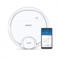 Dulkių siurblys Ecovacs Vacuum cleaner DEEBOT OZMO 905 EU Warranty 24 month(s), Battery warranty 24 month(s), Robot, White, 0,45 L, 66 dB, Wet & Dry, Cordless, 90 min