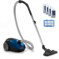 Vacuum cleaner Philips PowerGo vacuum cleaner FC8245/09 Bagged, Blue, 750 W, 3 L, AAA, A, D, A, 77 dB,