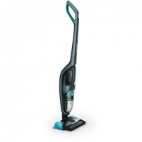 Vacuum cleaner Philips PowerPro Aqua Vacuum cleaner and Mopping System FC6409/01 Handstick 3in1, Petrol blue metallic, 0,6 L, 83 dB, Cordless, 60 min Vacuum cleaners