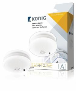 Dūmų detektorius König SAS-SA100 Dūmų detektoriai, gaisro gesinimo priemonės