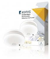 Dūmų detektorius su ličio Longlife baterija, König SAS-SA110 Dūmų detektoriai, gaisro gesinimo priemonės