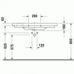 Duravit D-Code baldinis praustuvas 105x48