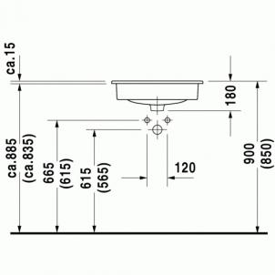 Duravit D-Code baldinis praustuvas 54,5x43,5